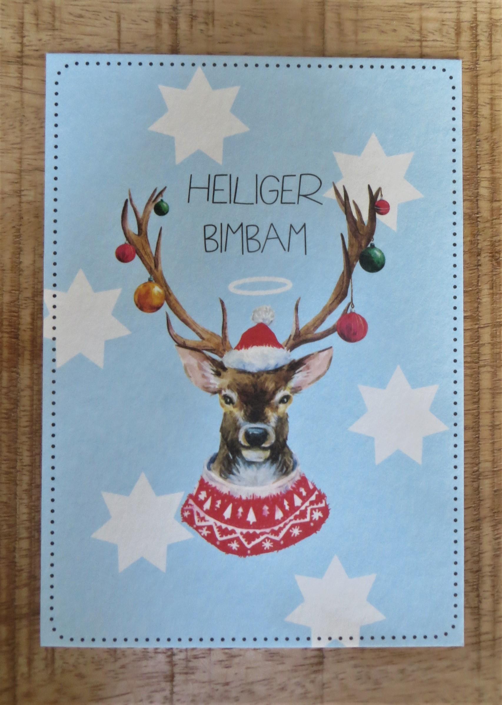 Nützlichgrusskarten - Postkarte Heiliger BIMBAM - Onlineshop Tante Emmer
