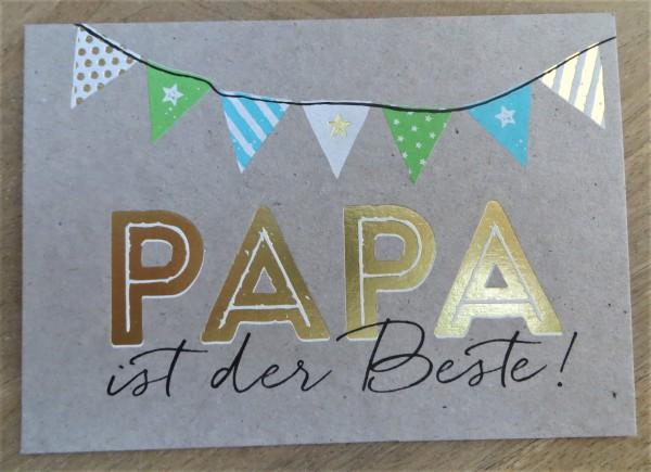"""Postkarte """"Papa ist der Beste!"""" KUNST und BILD"""