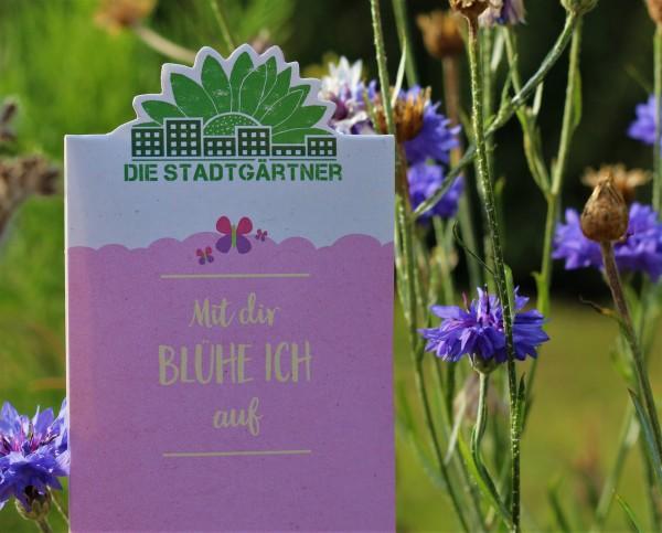 """Saatgrüße """"Mit dir BLÜHE ICH auf!"""", Wildblumen-Saatgut"""