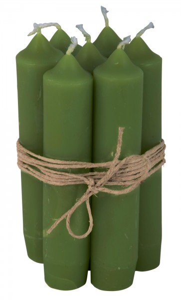 Stabkerze Grün, 11cm, Ib Laursen