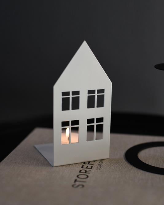 Nützlichdekoration - STORGATAN Kerzenleuchter Teelichthalter Metall Weiß 14cm Storefactory - Onlineshop Tante Emmer