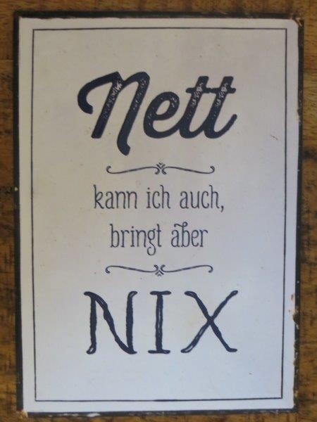 """Postkarte """"Nett kann ich auch, bringt aber nix"""""""