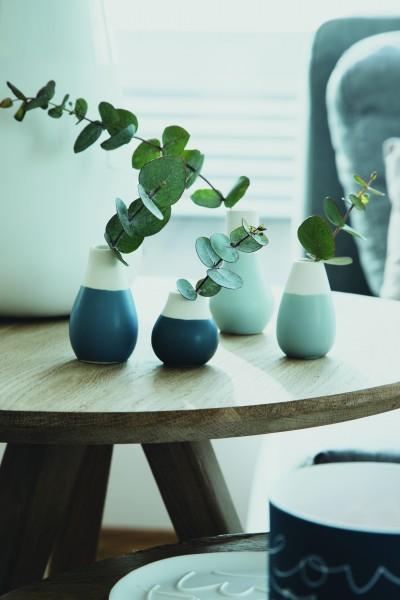 Living Mini Pastellvasen 4er Set blau räder