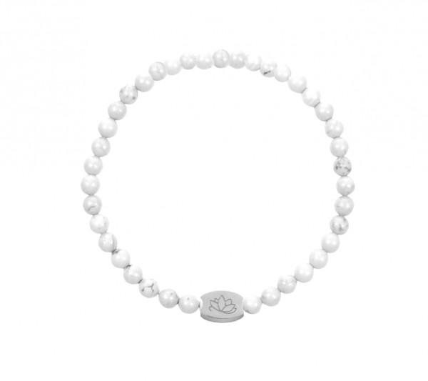 MAS jewelz Armband Howlith 4mm