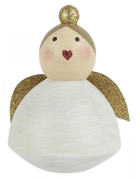 "Holzfigur ""Engel mit Glitter"", stehend, handbemalt Ib Laursen"