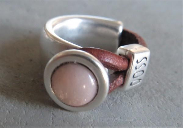 QOSS Fingerring GWEN Braun-Puderrosa S