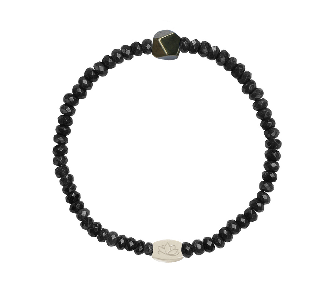 Armbaender für Frauen - MAS jewelz Armband Schwarzer Stein Pyrit  - Onlineshop Tante Emmer