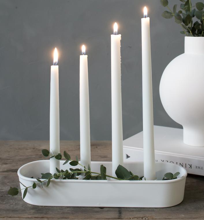 Partybedarfpartydeko - Storefactory GRANBÄCKEN Kerzenleuchter Adventsleuchter Weiß 32cm - Onlineshop Tante Emmer