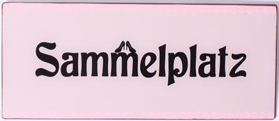 """Metall Schild mit der Aufschrift """"Sammelplatz"""" La Finesse"""