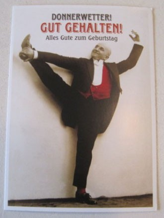 """Postkarte Karte """"Donnerwetter! Gut gehalten! Alles Gute zum Geburtstag"""" Paloma"""