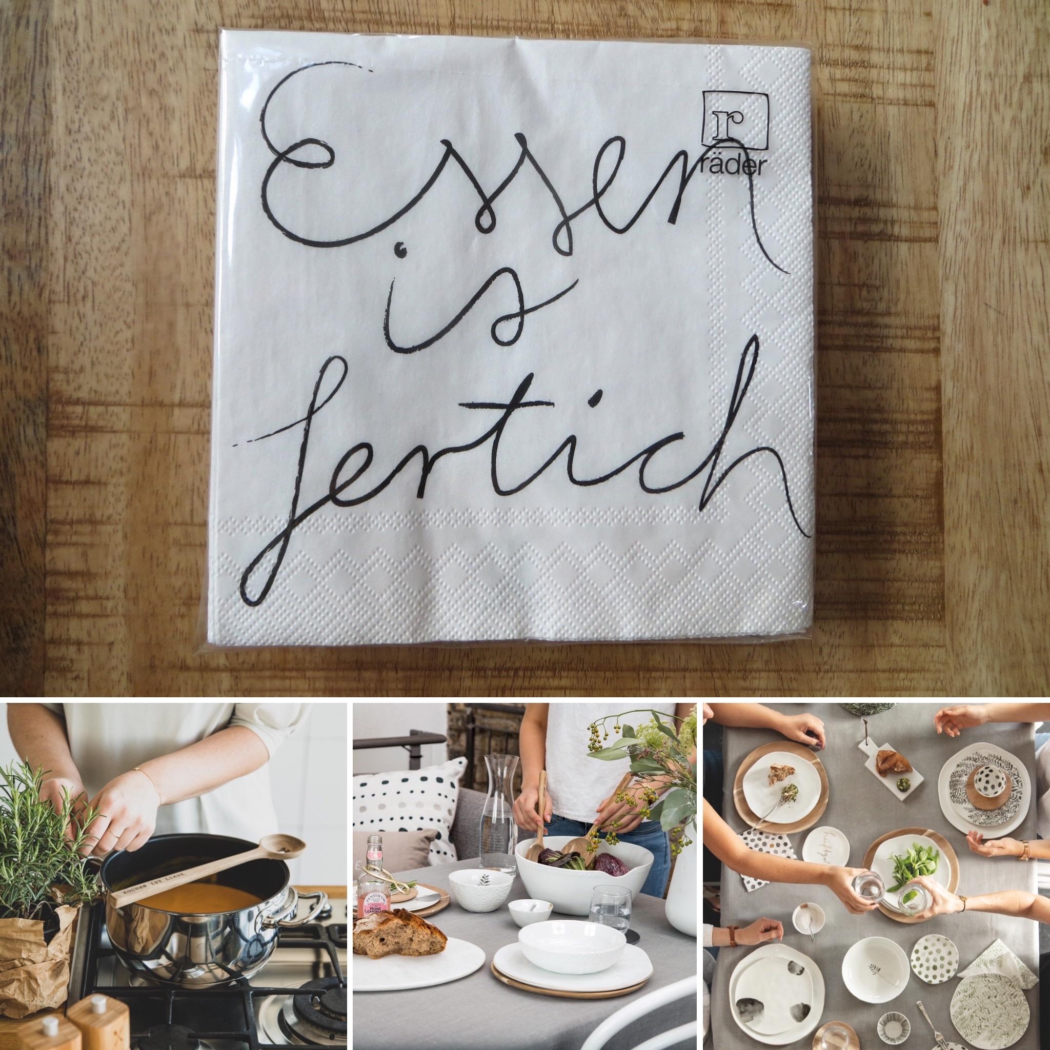 Partybedarfpartydeko - Servietten Essen ist fertich 25cm räder - Onlineshop Tante Emmer