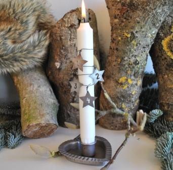Sterne mit Zahlen 1 4 für Adventskranz oder Kerzen MADLEYS