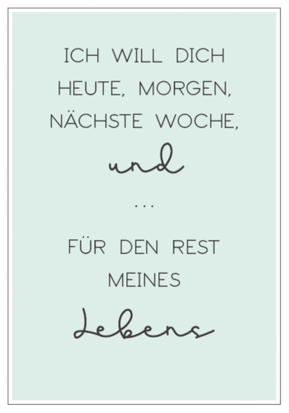 Witzigschilder - Metall Schild Ich will dich heute morgen nöchste Woche und ... Ib Laursen APS - Onlineshop Tante Emmer