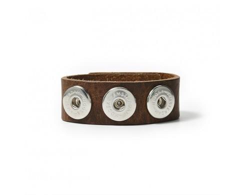NOOSA Armband classic skinny – midbrown Größe M NOOSA Amsterdam
