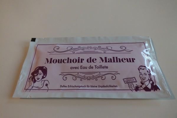 """Erfrischungstuch """"Mouchoir de Malheur"""""""