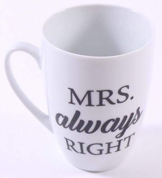 Cup Kaffeebecher Mrs Always right