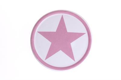 Steinuntersetzer pinker Stern aus Keramik La Finesse