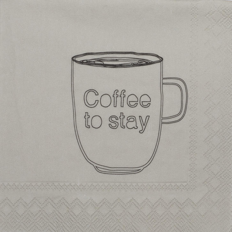 Partybedarfpartydeko - Servietten Coffee to stay 25cm räder - Onlineshop Tante Emmer