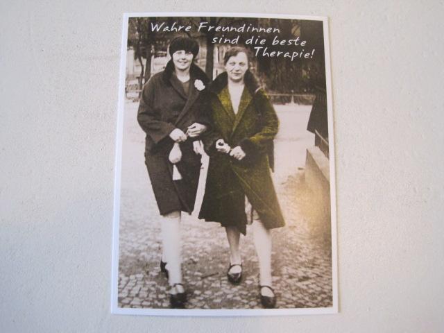 Postkarte Karte Wahre Freundinnen sind die beste Therapie Paloma