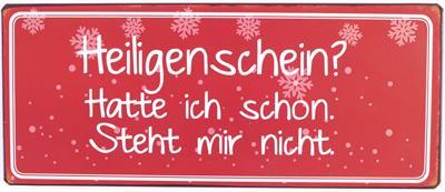 Witzigschilder - Metall Schild Heiligenschein - Onlineshop Tante Emmer