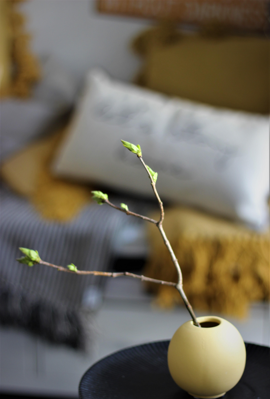 Nützlichdekoration - Vase YELLOW 8cm Bloomingville - Onlineshop Tante Emmer
