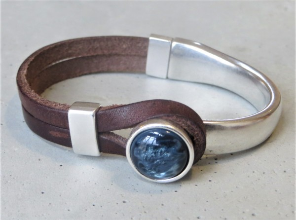QOSS Armband GWEN braun-jeansblau M