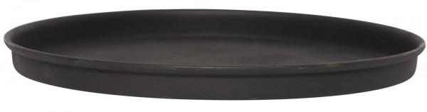 Kerzentablett / Dekoteller Schwarz, 19,5cm