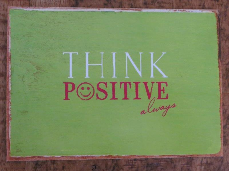 Postkarte THINK POSITIVE always