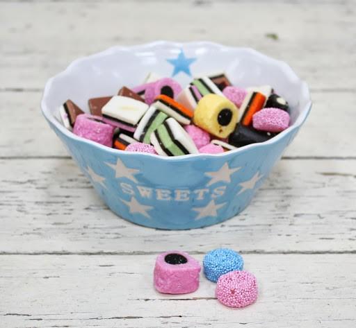 Sweets baby-blau Schale Schüssel mit Sternen Krasilnikoff