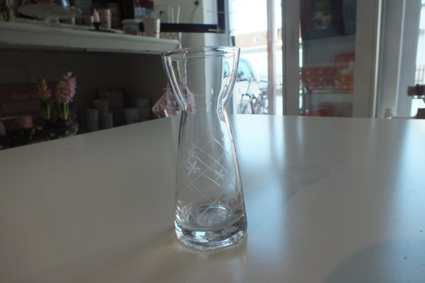 Hyazinthenglas Vase Rautenmuster mit Sternen Ib Laursen ApS