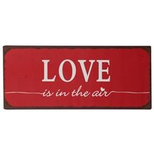 "Metall Schild ""Love is in the air"""