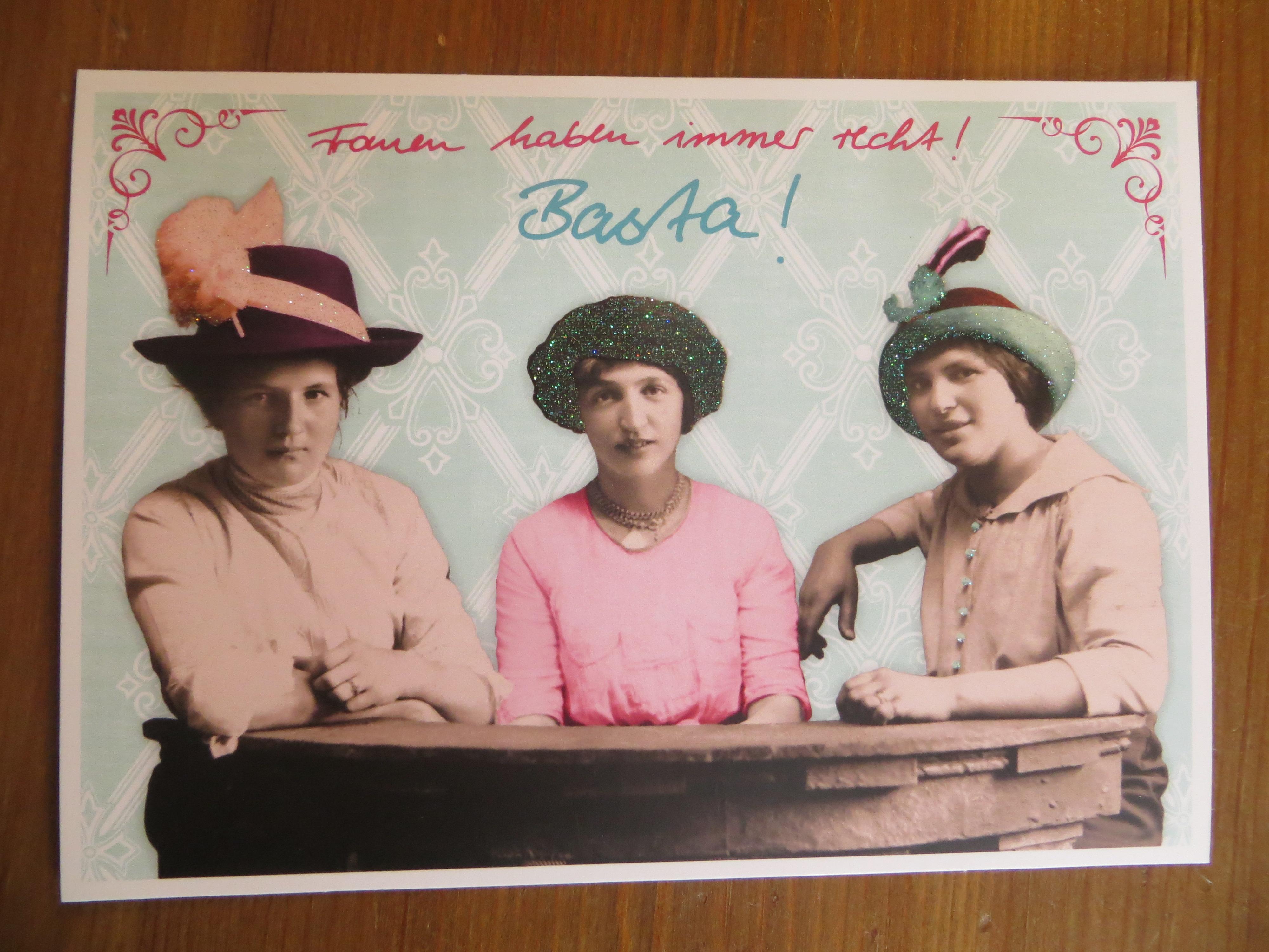 Postkarte Karte Frauen haben immer... Paloma