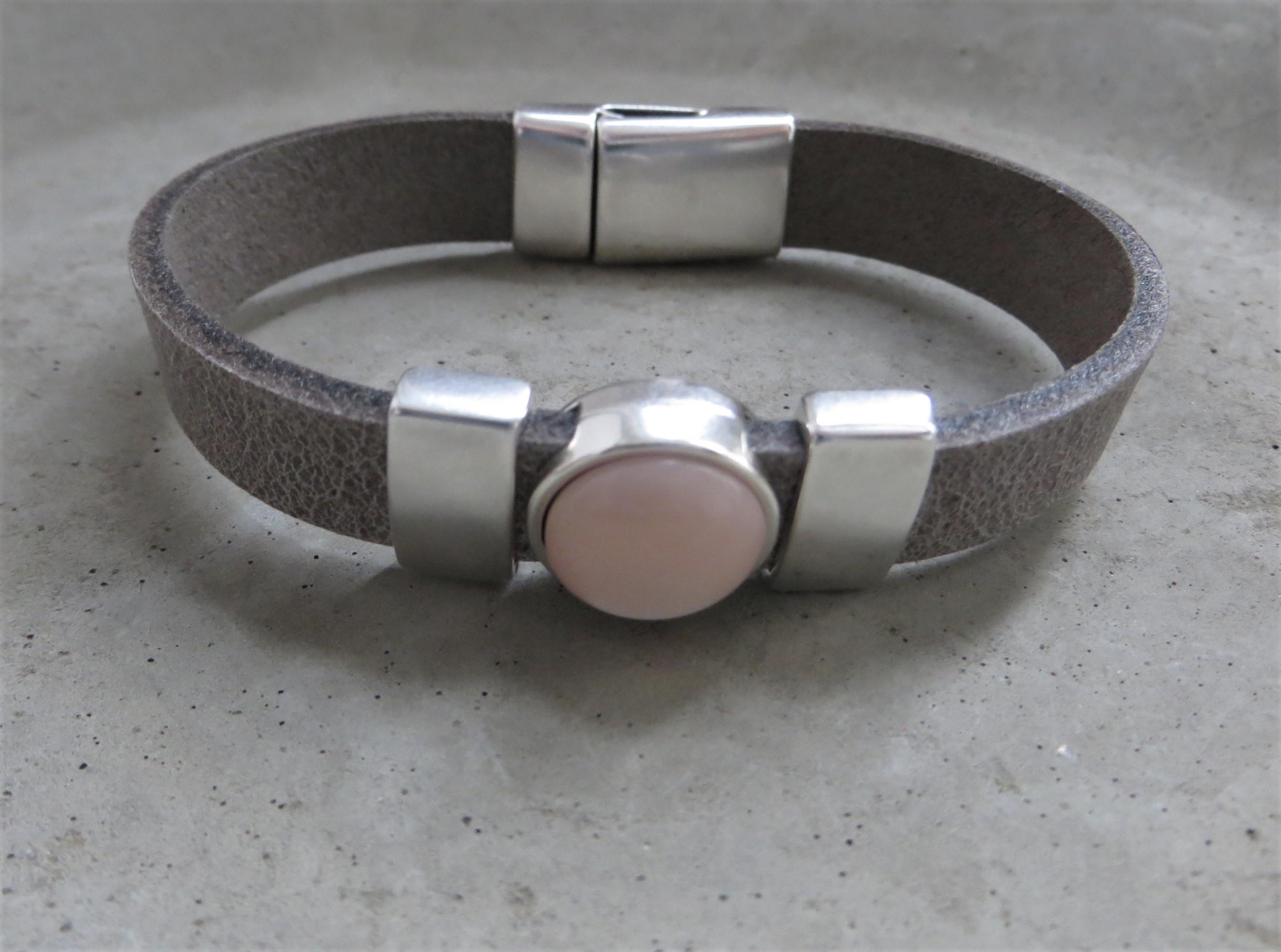 Armbaender - QOSS Armband KIM Grau Puderrosa M  - Onlineshop Tante Emmer