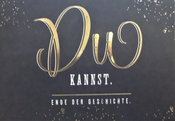 """Postkarte """"Du kannst. Ende der Geschichte."""" VintageArt"""