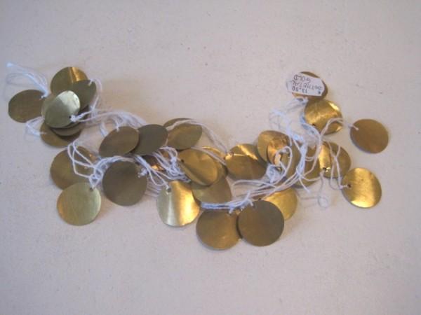 Girlande mit goldenen Talern aus Metallfolie tinekhome