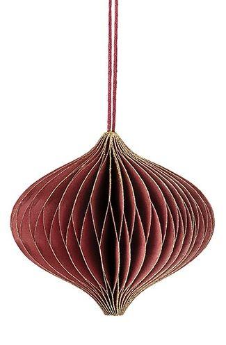 Ornament, 9x9x cm, Rot