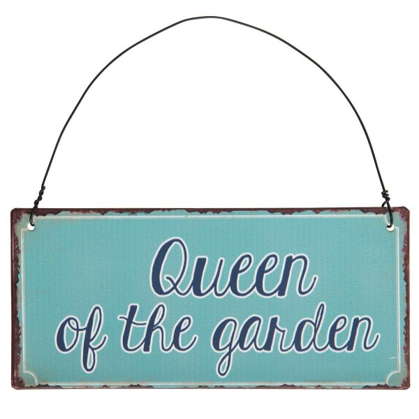Metall Schild Queen of the garden