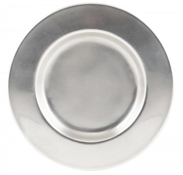 """Kerzentablett/ Dekoteller """"Elegance"""" Silber, 15,5cm"""