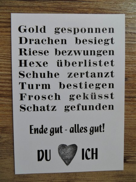 """Karte Postkarte """"Ende gut - alles gut"""""""