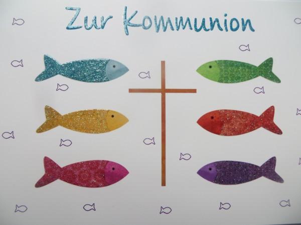 """Klappkarte """"Zur Kommunion"""""""