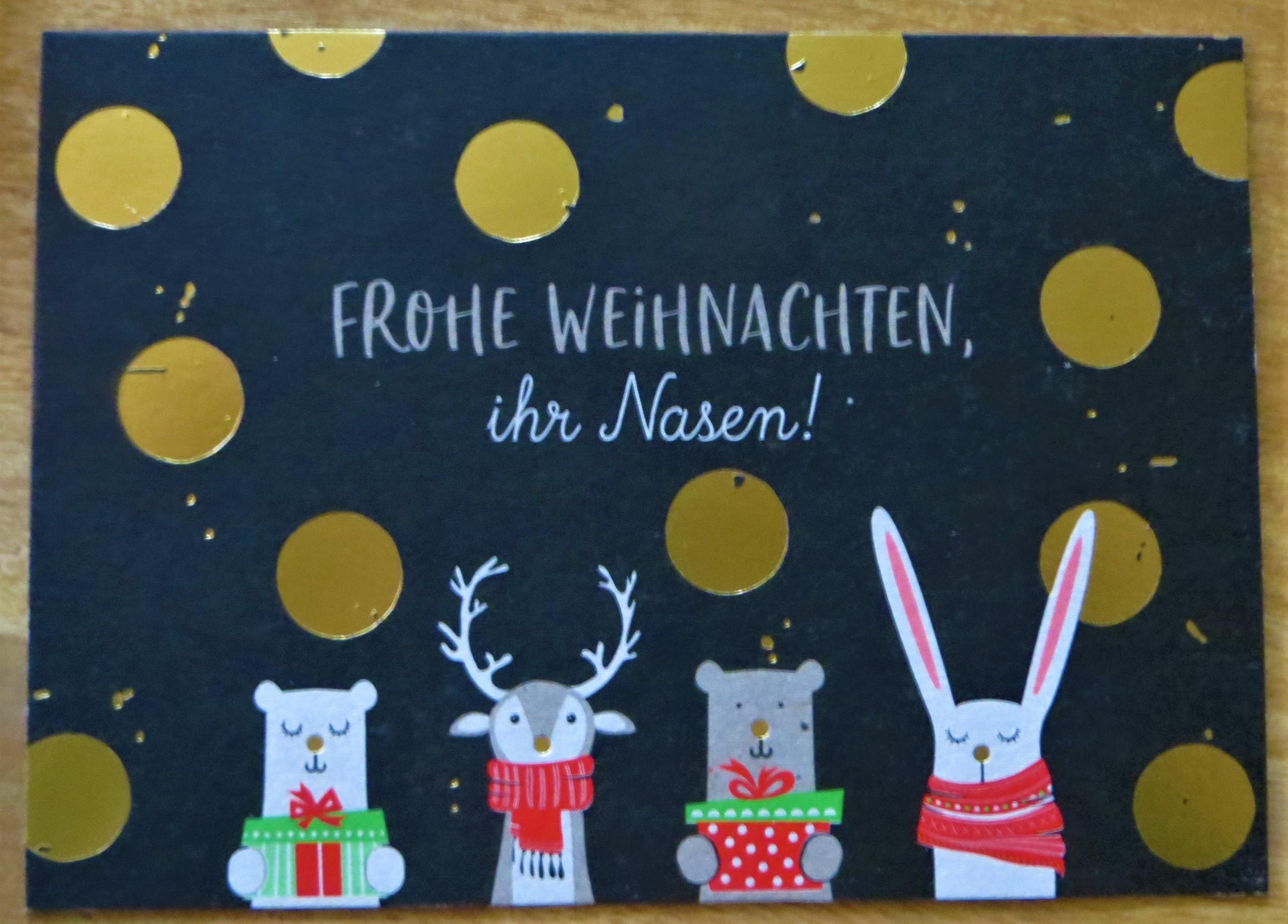 Nützlichgrusskarten - Postkarte FROHE WEIHNACHTEN ihr Nasen - Onlineshop Tante Emmer