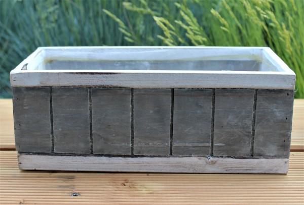 Pflanzkübel/ Übertopf im Shabbylook, Holz, klein