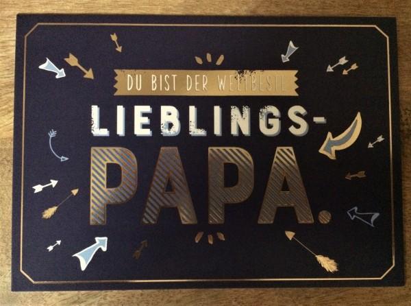 "Postkarte ""Du bist der weltbeste Lieblings- Papa"""