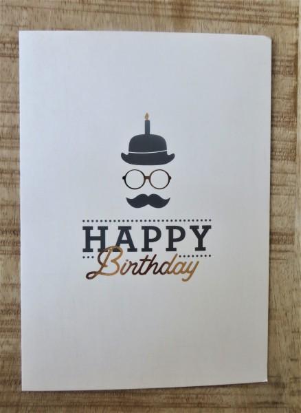 """Postkarte """"Happy birthday"""" VintageArt"""