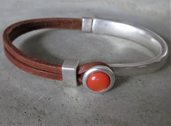 QOSS Armband EVA Braun-Orange, S