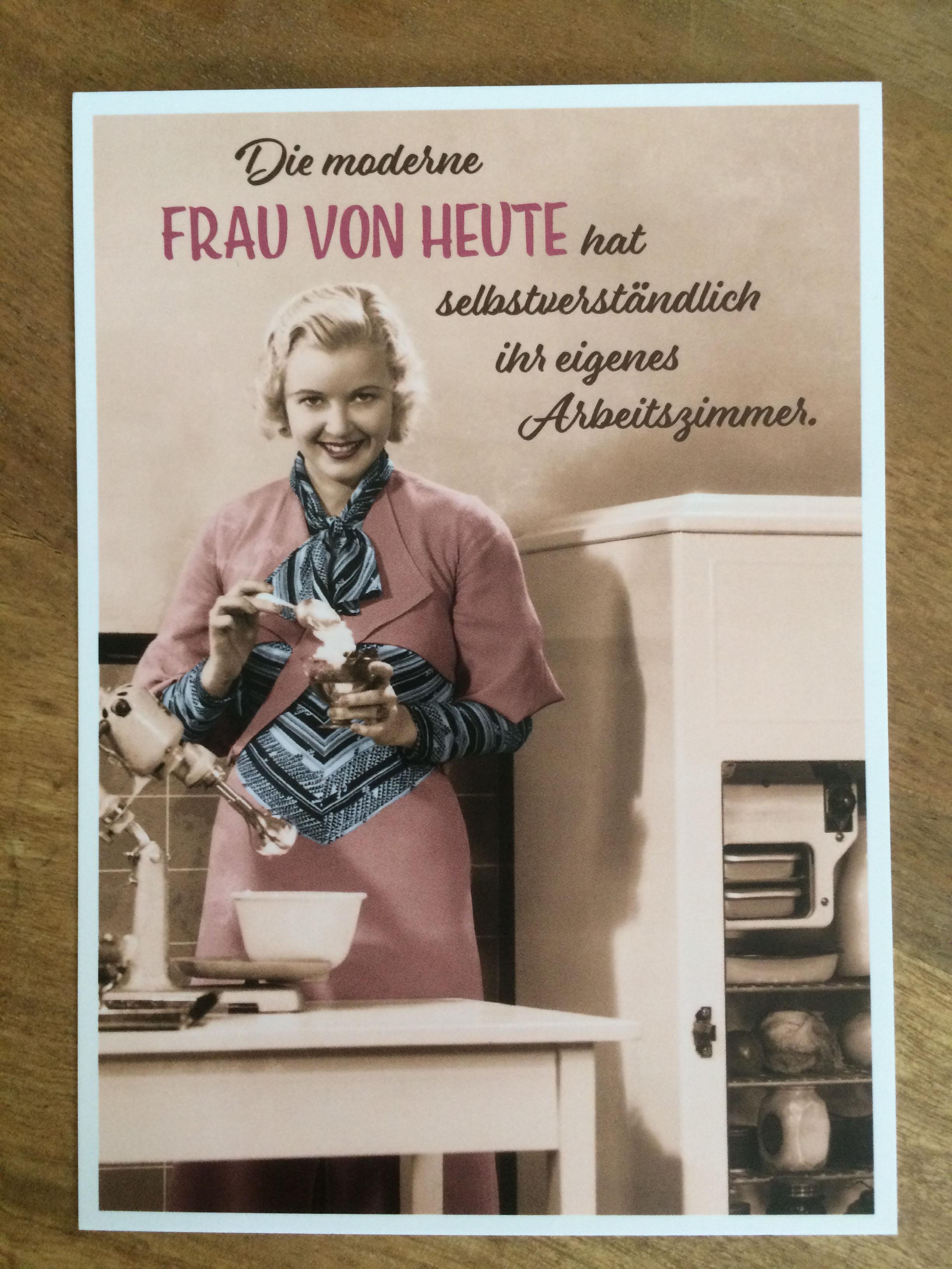 Postkarte Karte Die moderne Frau von heute hat selbstverständlich ihr eigenes Arbeitszimmer. Palom