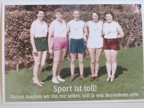 "Postkarte Karte ""Sport ist toll! Darum machen..."" Paloma"